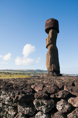 Moai in Tahai, Easter island (Chile)