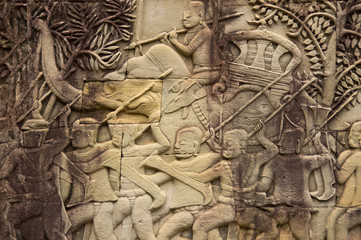 Picture on a wall, Cambodia