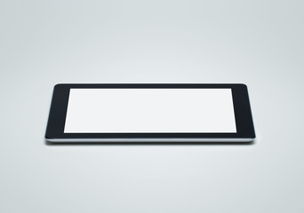 Blank digital tablet with clipping path