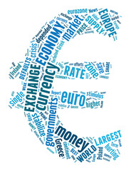 Euro Currency Symbol. Text illustration finance money concept