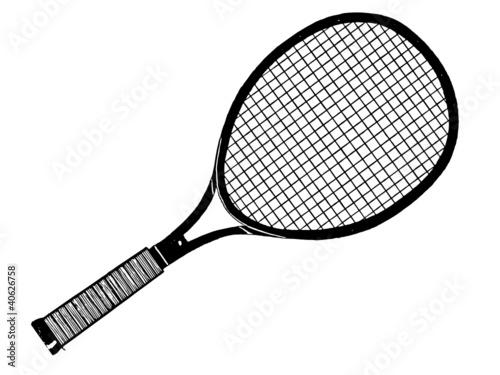 Raquette de tennis fichier vectoriel libre de droits sur - Dessin raquette ...