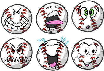 Baseball emotion Sports Icon Vector Illustration