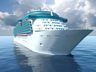 3D illustration of a Cruise Ship