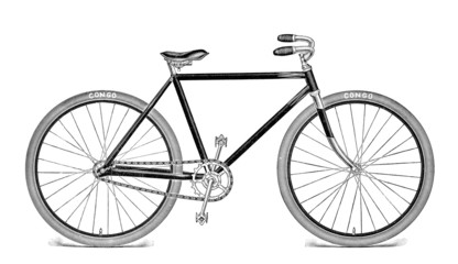 Antique Bicycle Illustration