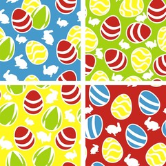 Colorful seamless pattern with easter eggs , vector set
