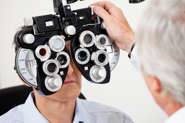 Eye Test With the Phoropter