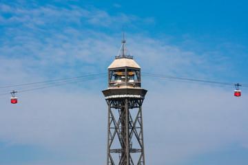 Barcelona, the Torre Jaume I, funicular