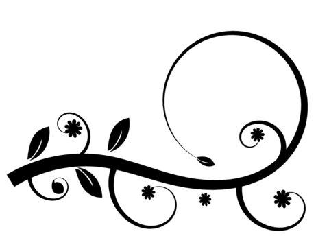 Flower swirl background