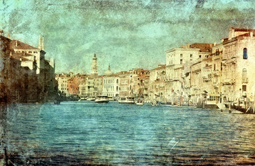 Venice in vintage style