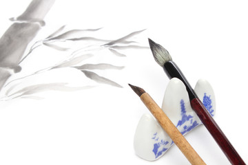 Japanese painting elements for sumie