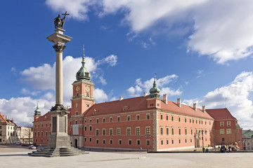 Sights of Poland. Warsaw Castle Square. King Sigismund monument