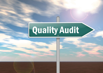 "Signpost ""Quality Audit"""