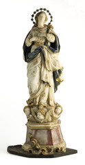 Mary Virgin coloured marble statuette