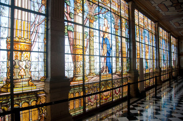 Stained glass window in Chapultepec castle, Mexico city
