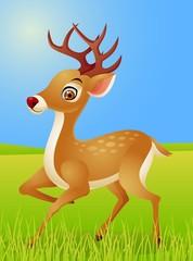 Foto auf Leinwand Waldtiere Deer cartoon
