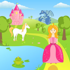 Spoed Foto op Canvas Pony Vector Fairytale