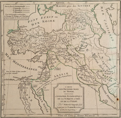 Antique map of ecclesiastical Turkey and Persia
