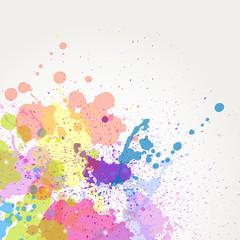 Vector paint splashes