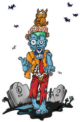 zombie cartoon  halloween
