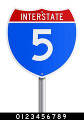 Editable Interstate sign