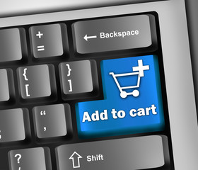 "Keyboard Illustration ""Add To Cart"""