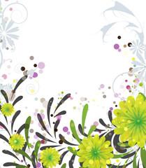 Spotted floral design
