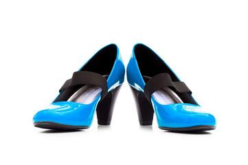 Female shoes on white background