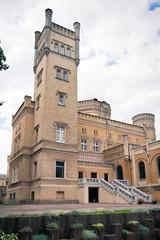 Neo-gothic castle tower / Jablonowo Pomorskie 1853