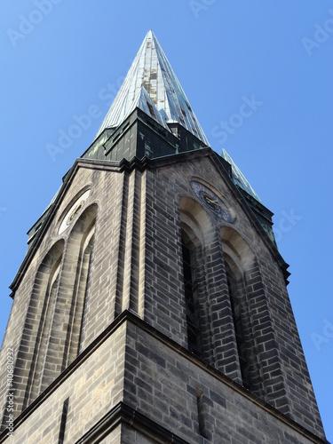 Turm Der Herz Jesu Kirche In Dresden Stockfotos Und Lizenzfreie