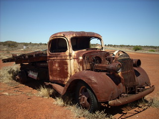 old truck abandoned