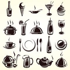 Restaurant elements set