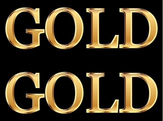 Gold sales word vector stock