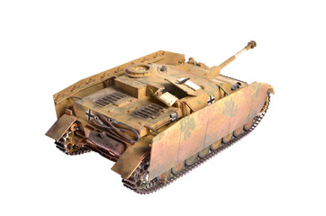 scale model of a german tank destroyer from WWII