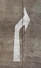 Arrow on street