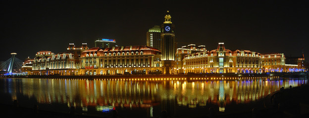 Night view of  Tianjin