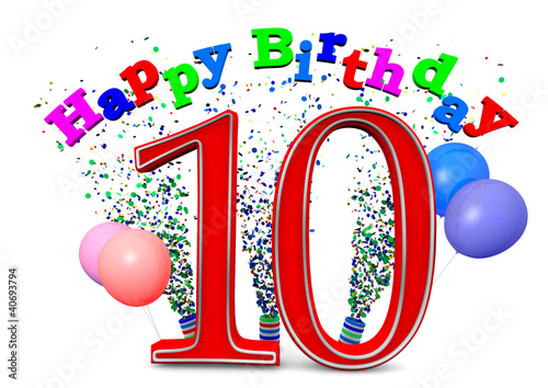 Happy Birthday 10 Stock Photo And Royalty Free Images On Fotolia