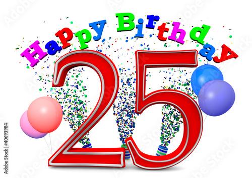 """""""Happy Birthday 25"""" Stockfotos und lizenzfreie Bilder auf ..."""