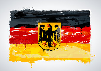 Grunge Germany national flag