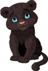 Canvas Prints Fairytale World Black panther cub