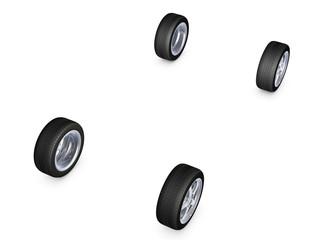alloy wheel tire