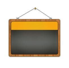 blackboard wood frame menu restaurant yellow raster