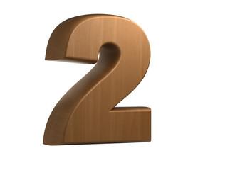 wooden number 2