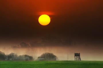 Acrylic Prints Brown Sunrise
