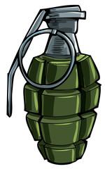 Cartoon drawing of a hand grenade