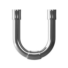 3d Silver Pipe Letter U