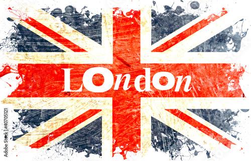 """Super drapeau anglais decoupe london"""" photo libre de droits sur la  BZ92"""