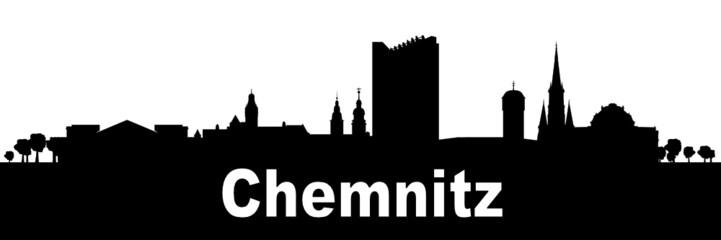 Chemnitzer Skyline Silhouette