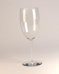 3d render of empty glass