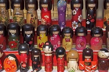 Poupées Kokeshi japonaises en bois