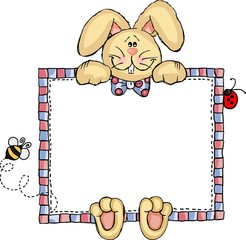 Label Frame Bunny